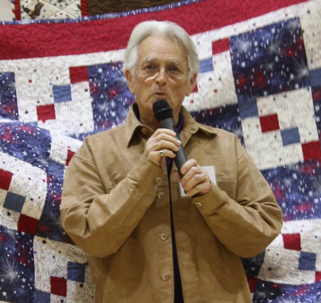 Robin Hebrock/Pahrump Valley Times U.S. Army veteran Stephen Elliott was one of more than 30 ar ...