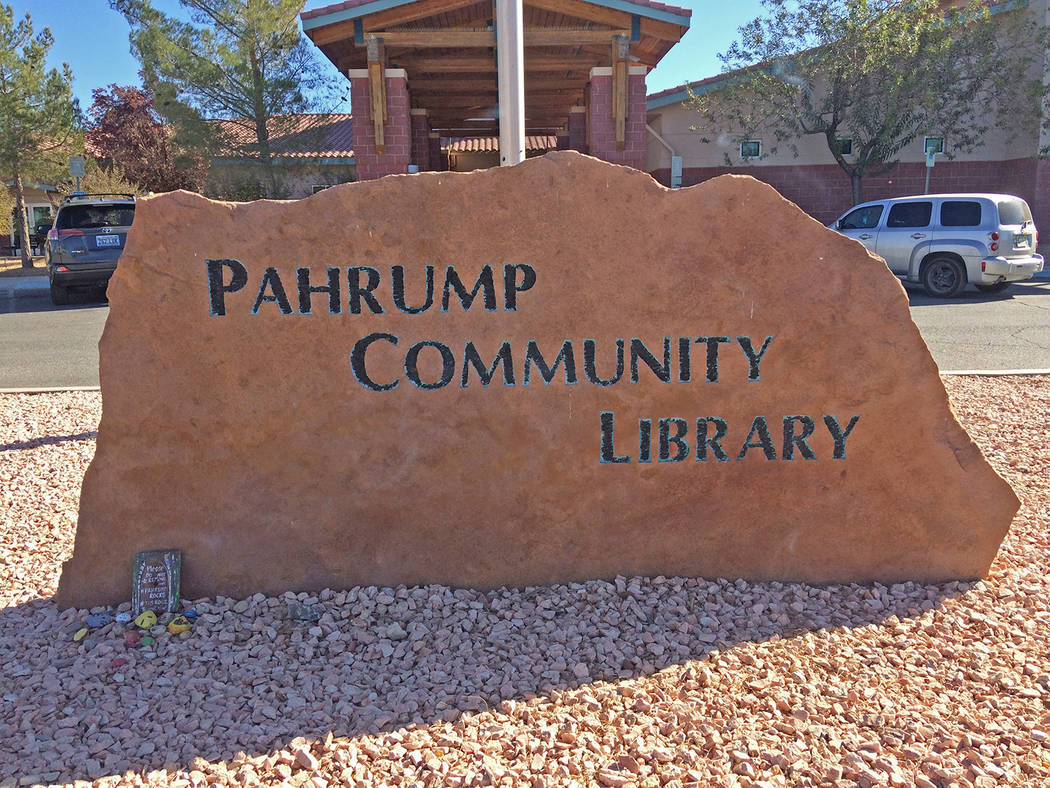 Robin Hebrock/Pahrump Valley Times The Pahrump Community Library Board of Trustees will be addr ...