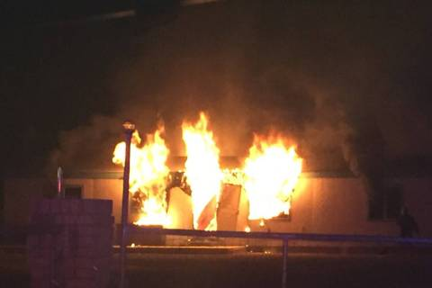 Special to the Pahrump Valley Times Four dogs perished in a structure fire along the 1400 block ...