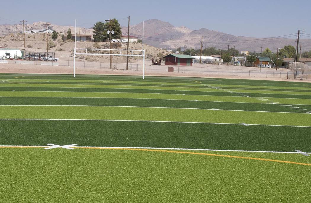 Richard Stephens/Pahrump Valley Times file photo Beatty High School's football field, completed ...