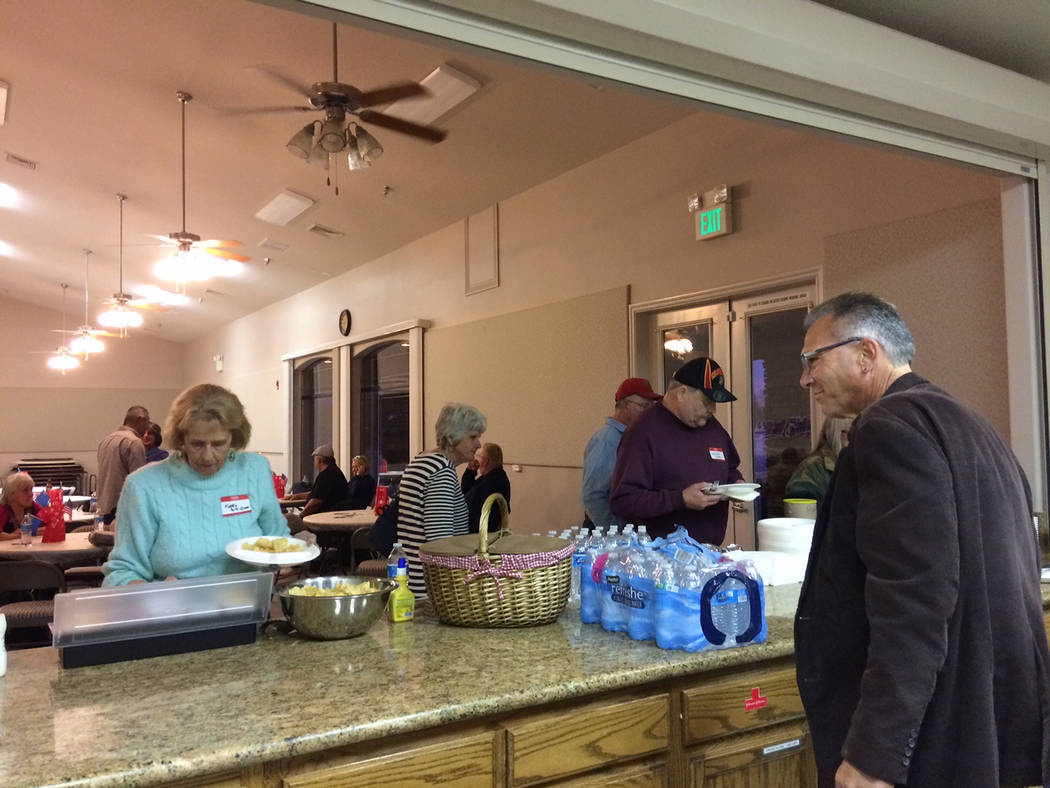 Robin Hebrock/Pahrump Valley Times Dr. Joseph Bradley's latest campaign event in Pahrump includ ...