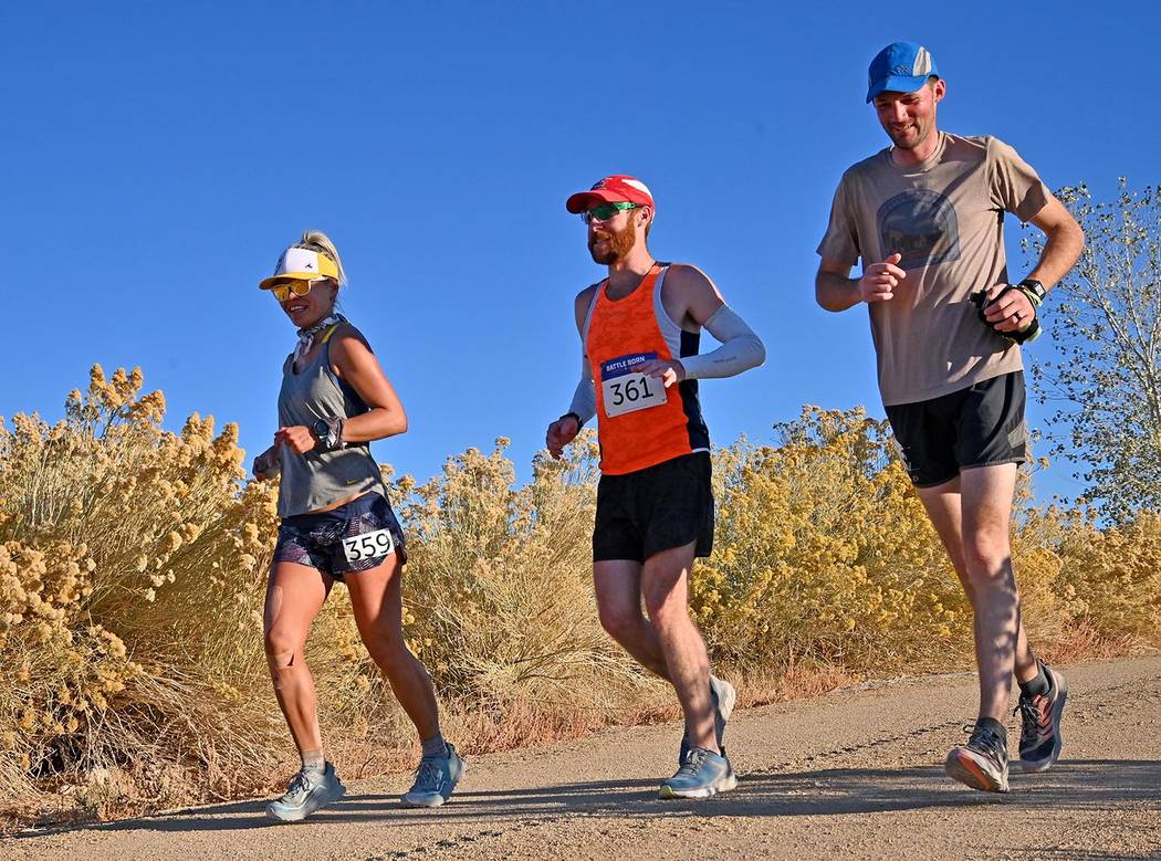 Richard Stephens/Special to the Pahrump Valley Times Maia Detmer, left, of Las Vegas completed ...