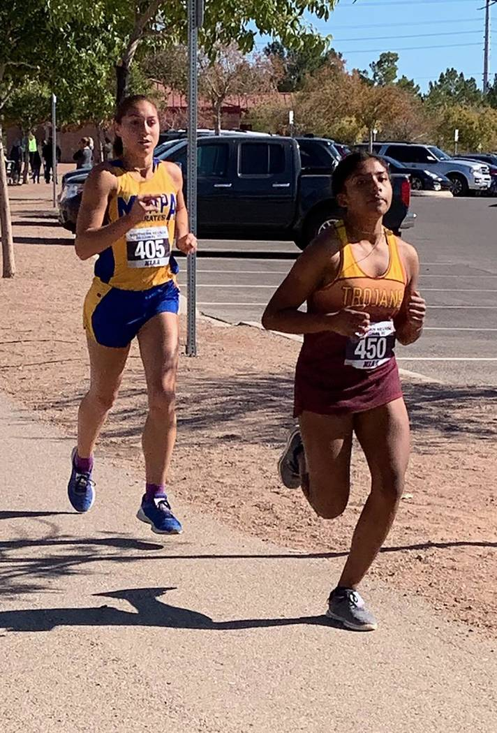 Tammi Odegard/Special to the Pahrump Valley Times Pahrump Valley sophomore Hillary Valencia Vid ...