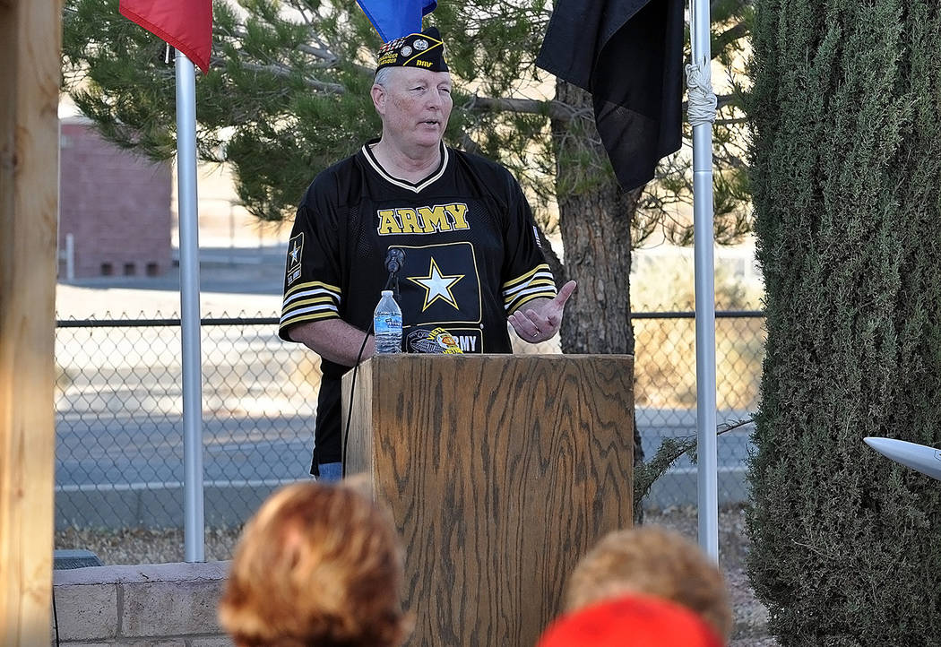 Horace Langford Jr./Pahrump Valley Times - Veteran Bruce Cox of the DAV Chapter #15 and local ...