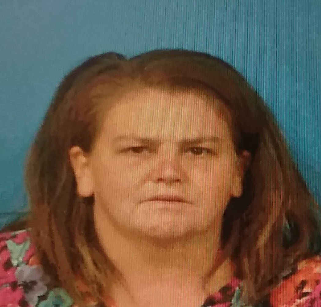 Courtesy of the Nye County Detention Center Tonopah resident Jeannie Newberry, was arrested on ...