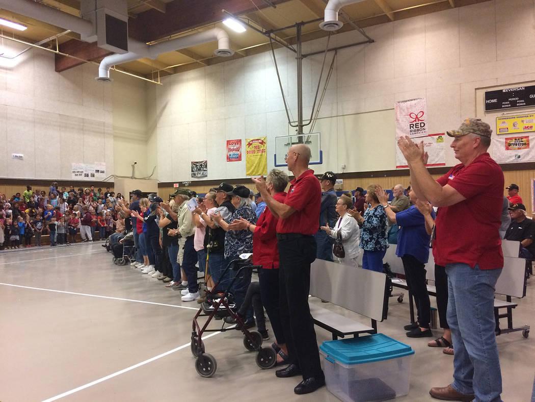 Robin Hebrock/Pahrump Valley Times Veterans attending the Veterans Appreciation Assembly at J.G ...