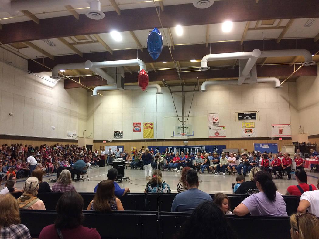 Robin Hebrock/Pahrump Valley Times J.G. Johnson Elementary was the site of a Veterans Appreciat ...