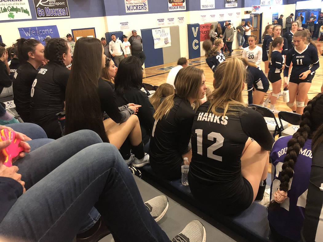 Tom Rysinski/Times-Bonanza & Goldfield News Round Mountain High School players and coaches gath ...