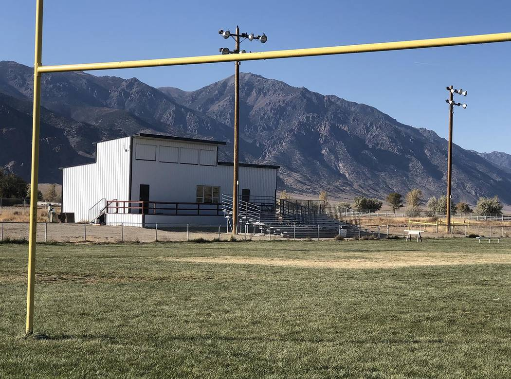 Tom Rysinski/Times-Bonanza & Goldfield News The bleachers at Round Mountain Junior/Senior High ...