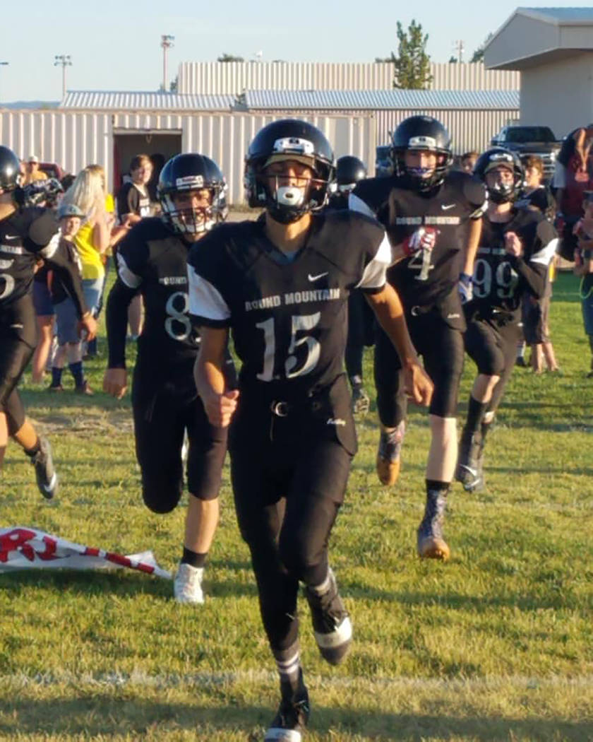 Special to the Times-Bonanza & Goldfield News Sophomore Koleby Harmon leads the Round Mountain ...