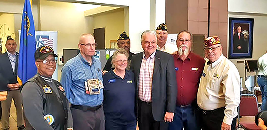 Special to the Pahrump Valley Times Members of the Disabled American Veterans Chapter #15 pose ...