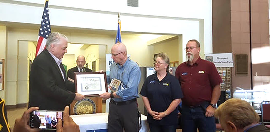 Special to the Pahrump Valley Times From right to left are Disabled American Veterans Chapter # ...