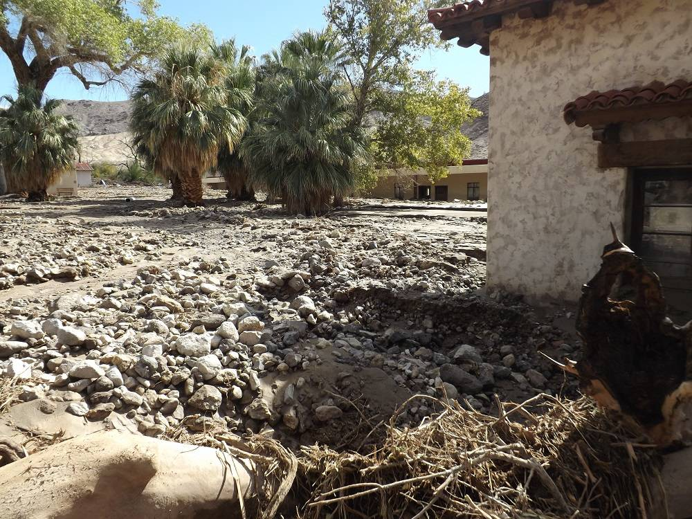 Courtesy of Death Valley National Park This file photo shows debris field piled up against the ...