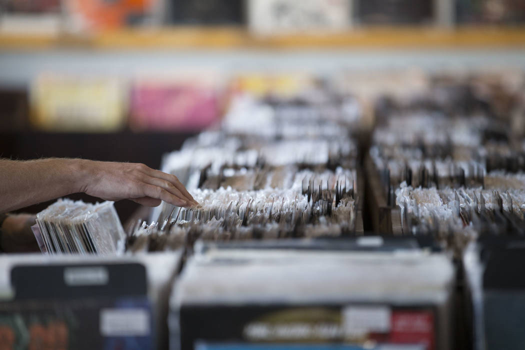 Richard Brian Las Vegas Review-Journal A customer browses the vinyl records at 11th Street Reco ...