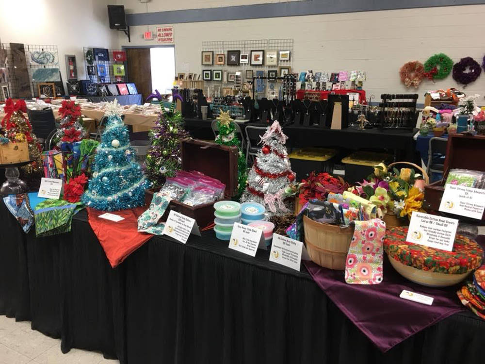 Special to the Pahrump Valley Times The Mistletoe and Magic craft show took place at the Bob Ru ...