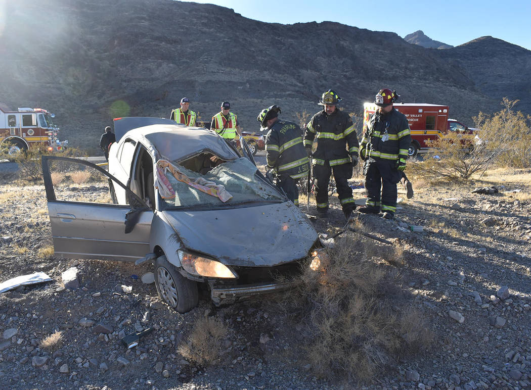 Special to the Pahrump Valley Times One person was flown to University Medical Center in Las Ve ...