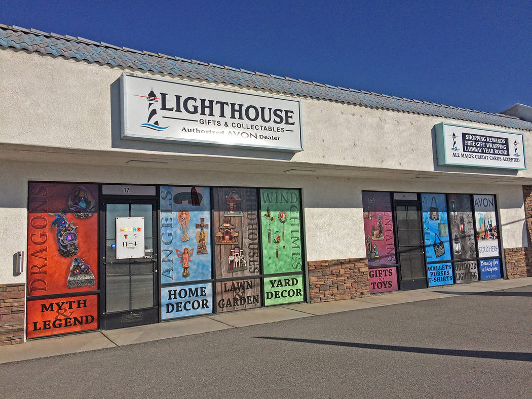 Robin Hebrock/Pahrump Valley Times Lighthouse Gifts and Collectibles is locally owned small bus ...
