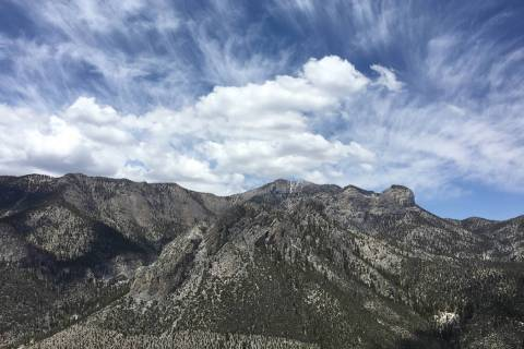 Las Vegas Review-Journal file The clouds stretch over Cathedral Rock in the Spring Mountains Na ...