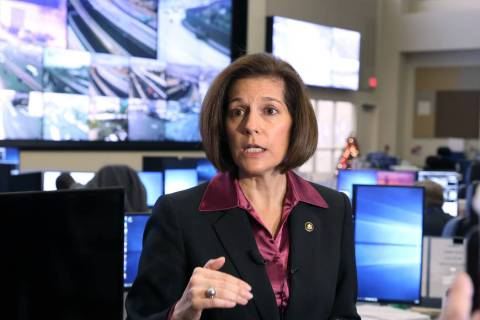 Bizuayehu Tesfaye/Las Vegas Review-Journal U.S. Sen. Catherine Cortez Masto of Nevada, the stat ...