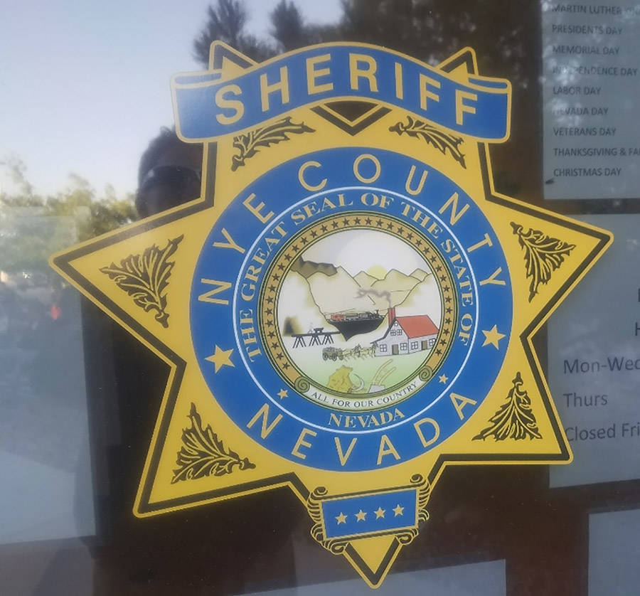 David Jacobs/Pahrump Valley Times The investigation was announced by the Nye County Sheriff's O ...