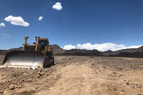 GridLiance/Special to the Pahrump Valley Times Crews work on Dallas-based GridLiance's new Sloa ...