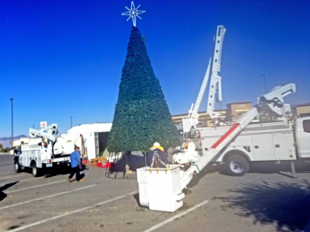 David Jacobs/Pahrump Valley Times The official lighting is planned for 6 p.m. Saturday, Nov. 30 ...