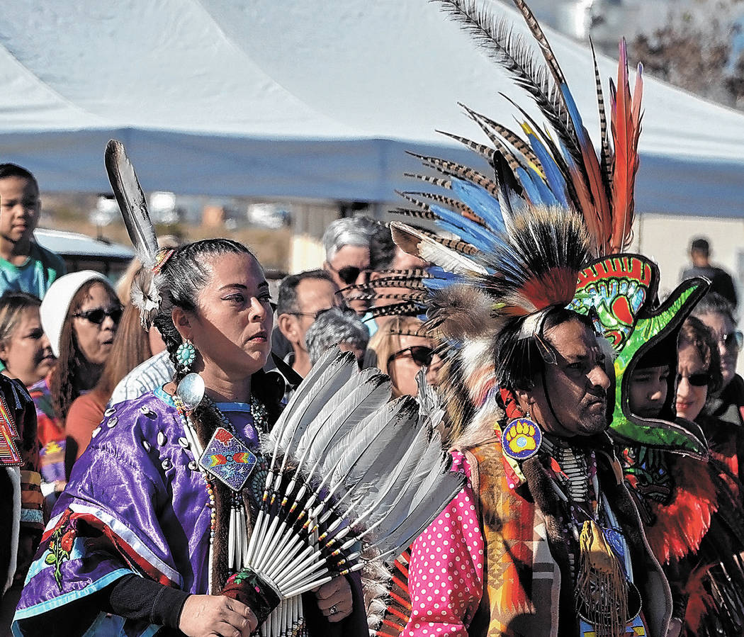 Horace Langford Jr./Pahrump Valley Times In what's known as the 'Grand Entry,' Native American ...