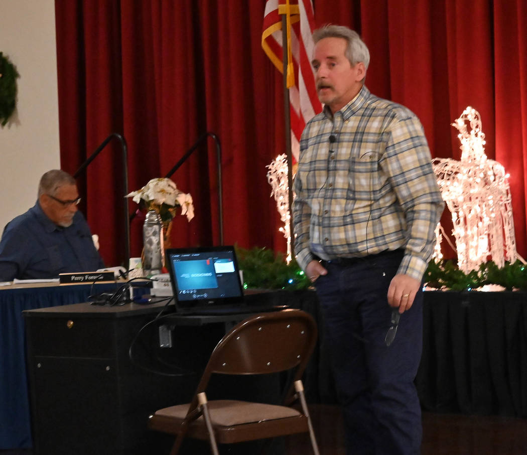 Richard Stephens/Special to the Pahrump Valley Times Nye County Director of Public Works Tim Da ...