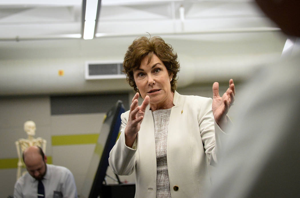Caroline Brehman/Las Vegas Review-Journal file U.S. Sen. Jacky Rosen, D-Nev. has recently sat i ...