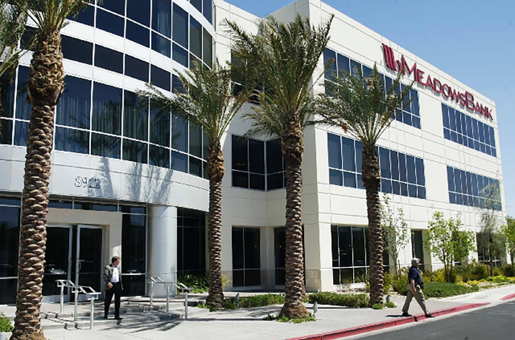 Las Vegas Review-Journal file photo Meadows Bank was founded in 2008 in Las Vegas and currently ...