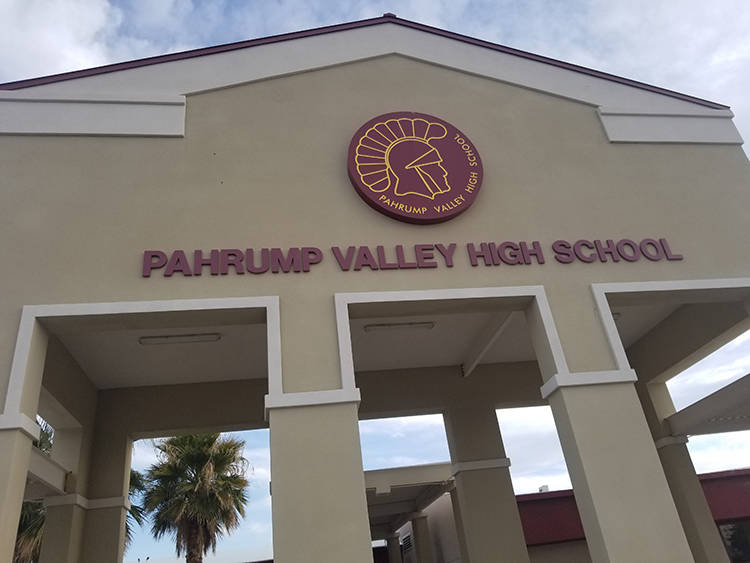 David Jacobs/Pahrump Valley Times Pahrump Valley High School as shown in a file photo. The stud ...