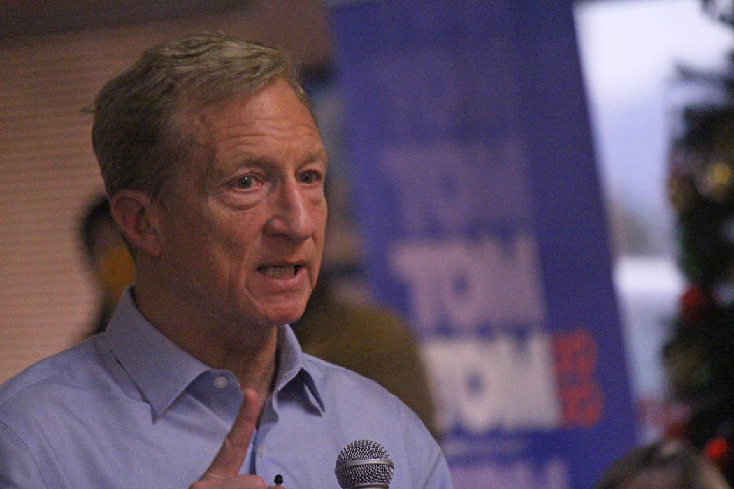 Jeffrey Meehan/Pahrump Valley Times Presidential hopeful and California billionaire Tom Steyer ...