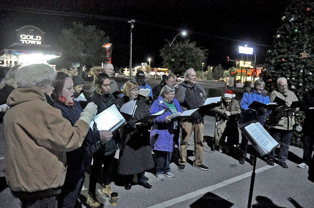 Horace Langford Jr./Pahrump Valley Times Christmastime and carolers go hand in hand and the Pa ...