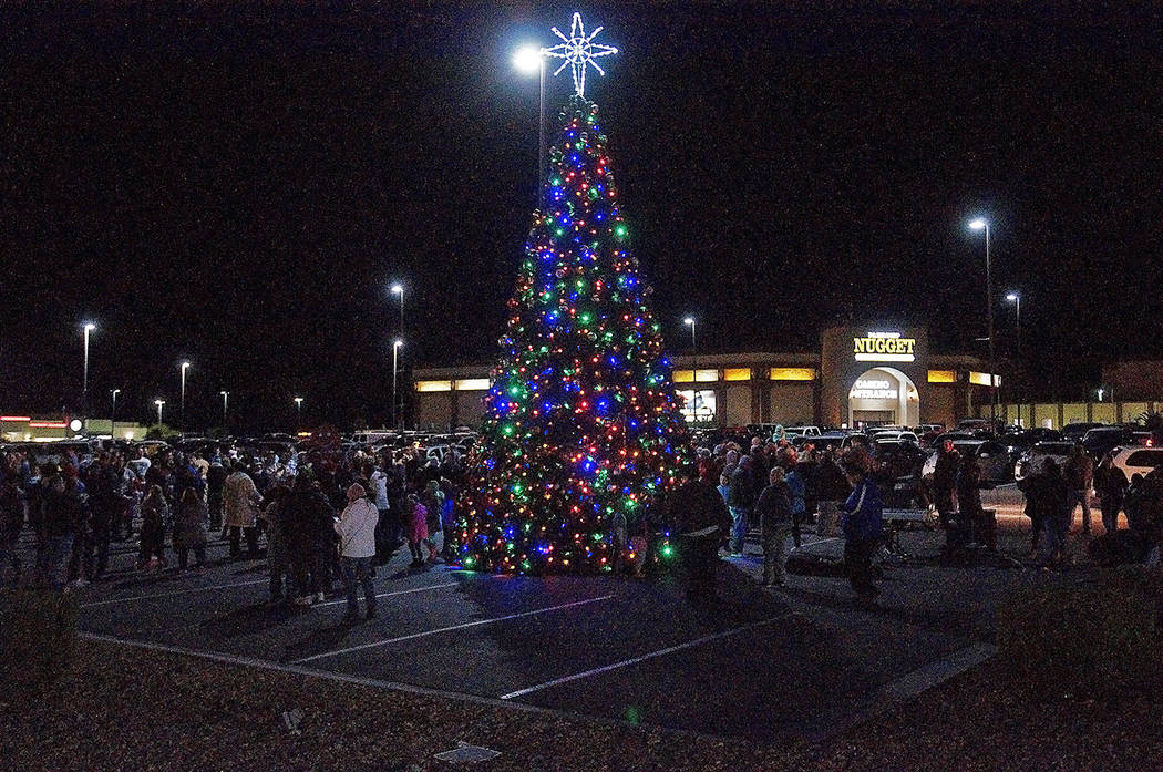 Horace Langford Jr./Pahrump Valley Times The Community Christmas Tree Lighting took place Nov. ...
