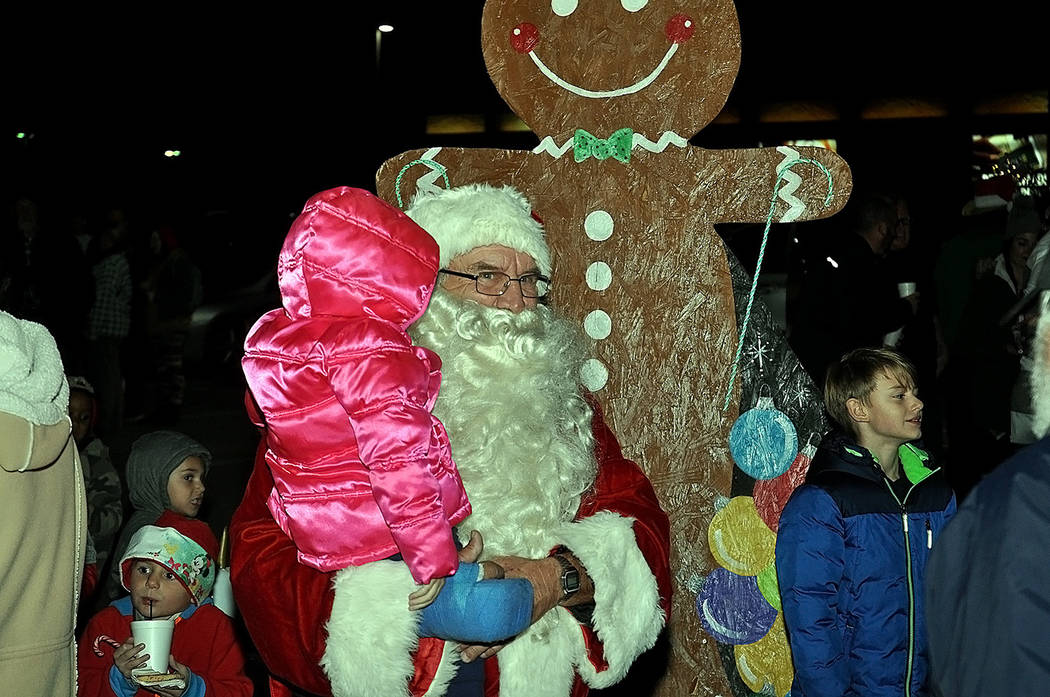 Horace Langford Jr./Pahrump Valley Times Santa Claus made a special appearance in the valley t ...