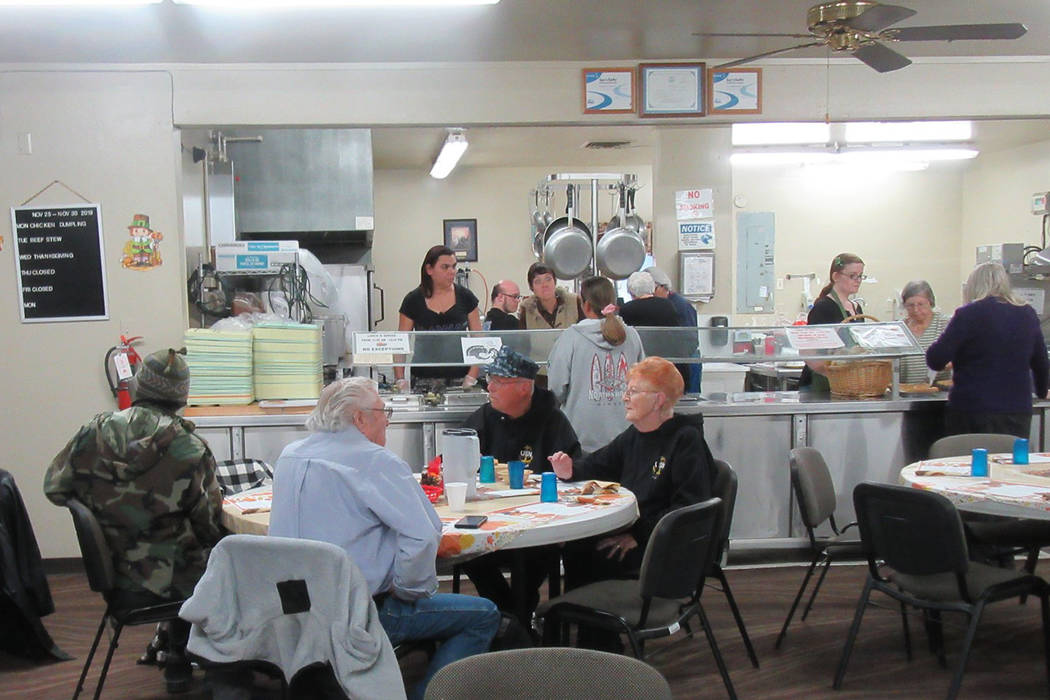 Special to the Pahrump Valley Times Pahrump Senior Center employees and volunteers arrived at t ...