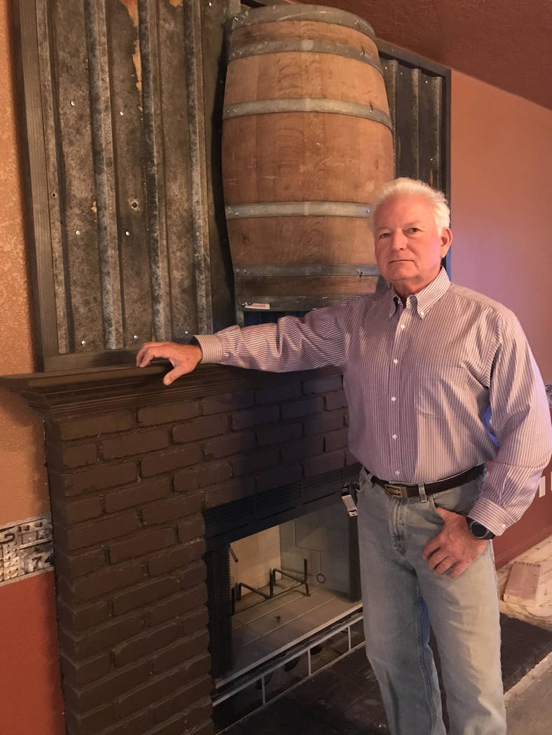 Jeffrey Meehan/Pahrump Valley Times Pahrump resident and businessman Tim Burke stands inside h ...