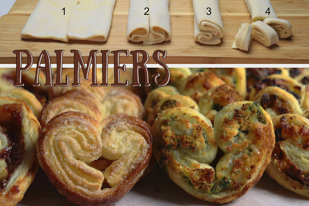 Patti Diamond/Special to the Pahrump Valley Times These palmiers are so easy it's a perfect t ...