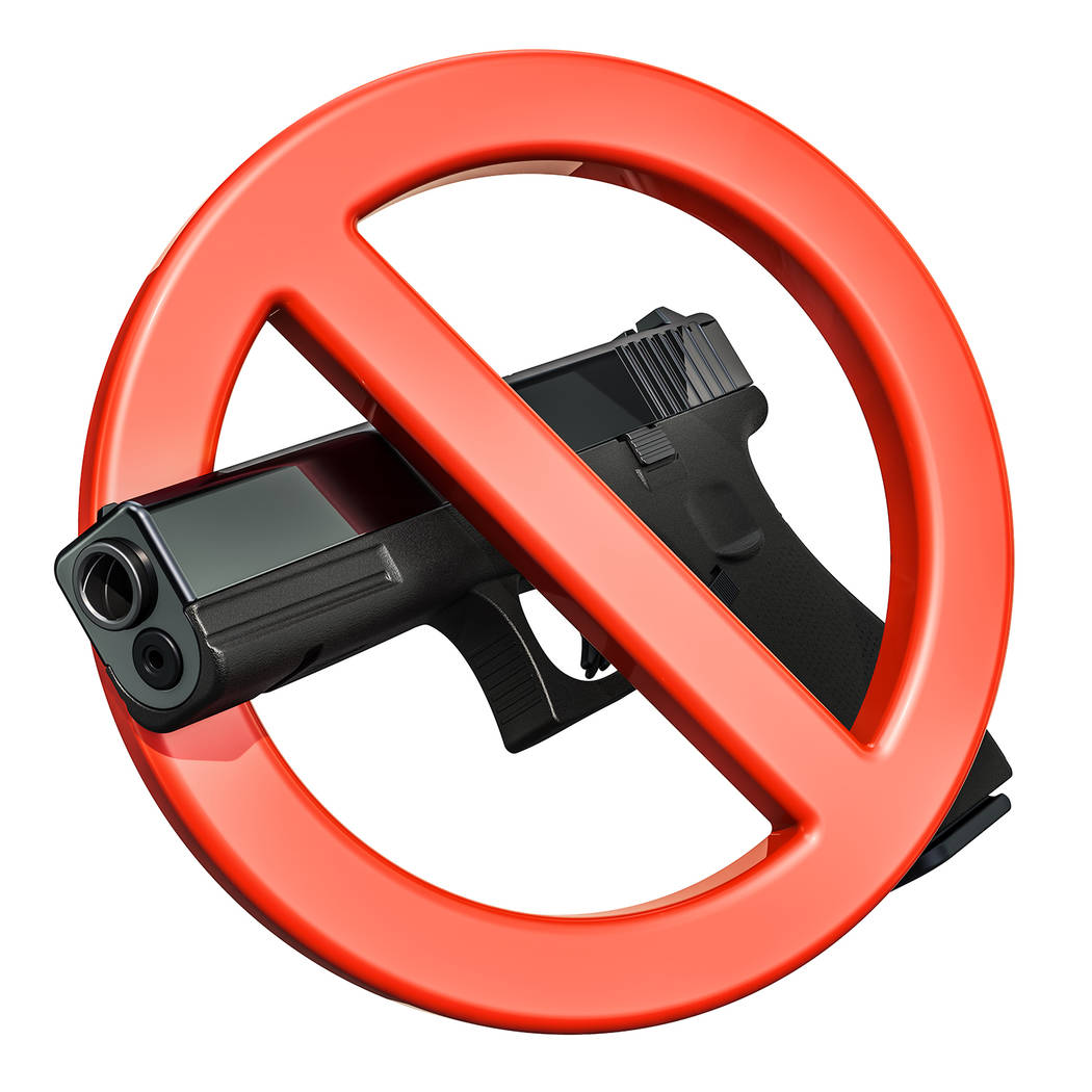 Getty Images The question of whether firearms will be banned in the Pahrump Community Library's ...