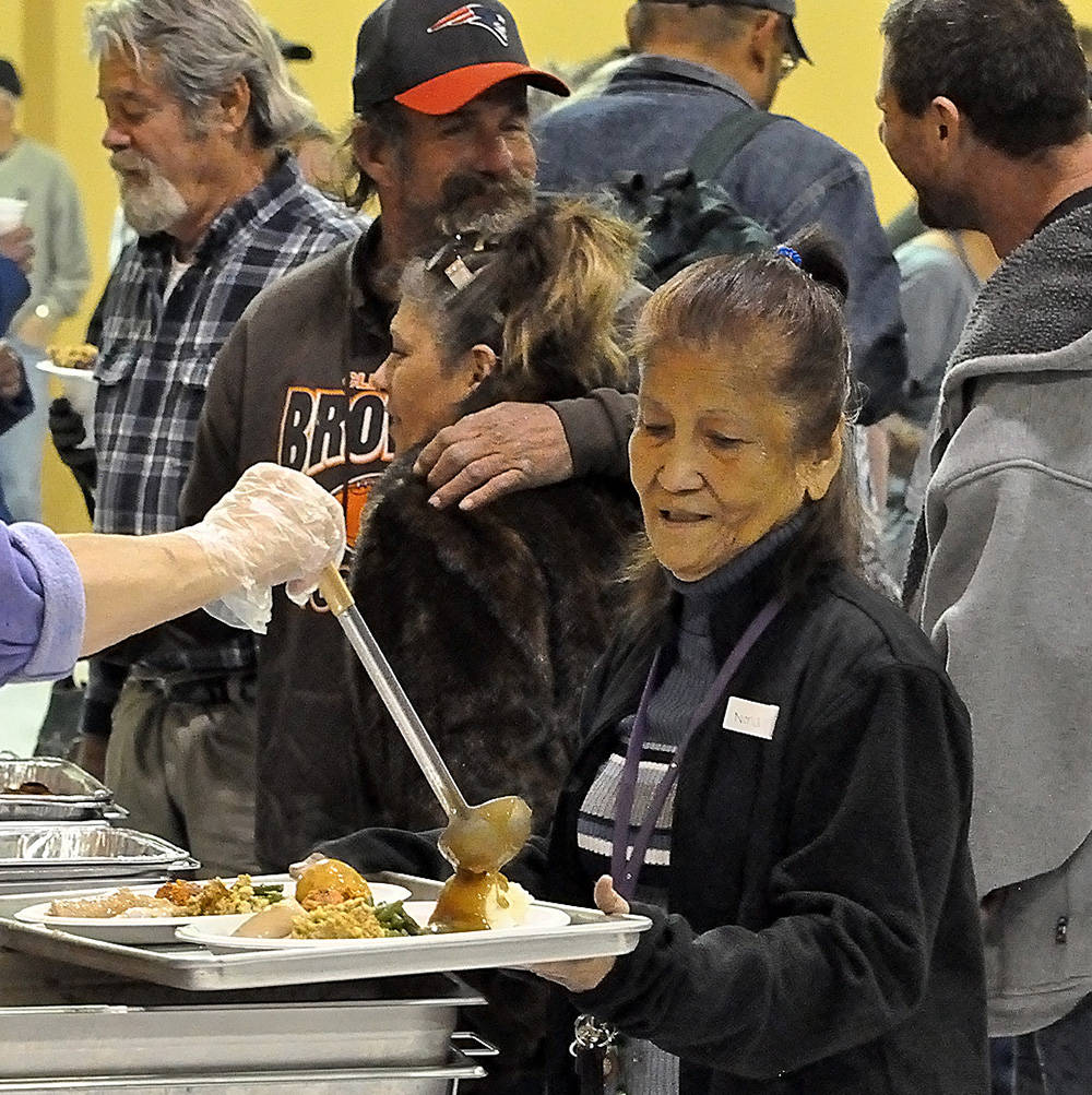 Horace Langford Jr./Pahrump Valley Times At the Community Outreach Thanksgiving Dinner, veteran ...