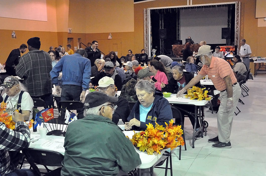 Horace Langford Jr./Pahrump Valley Times The NyE Communities Coalition Activities Center was pa ...
