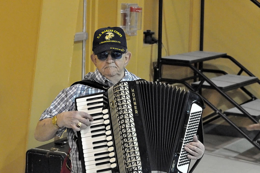 Horace Langford Jr./Pahrump Valley Times 'Sergeant Dan the Accordian Man' provided a bit of ent ...