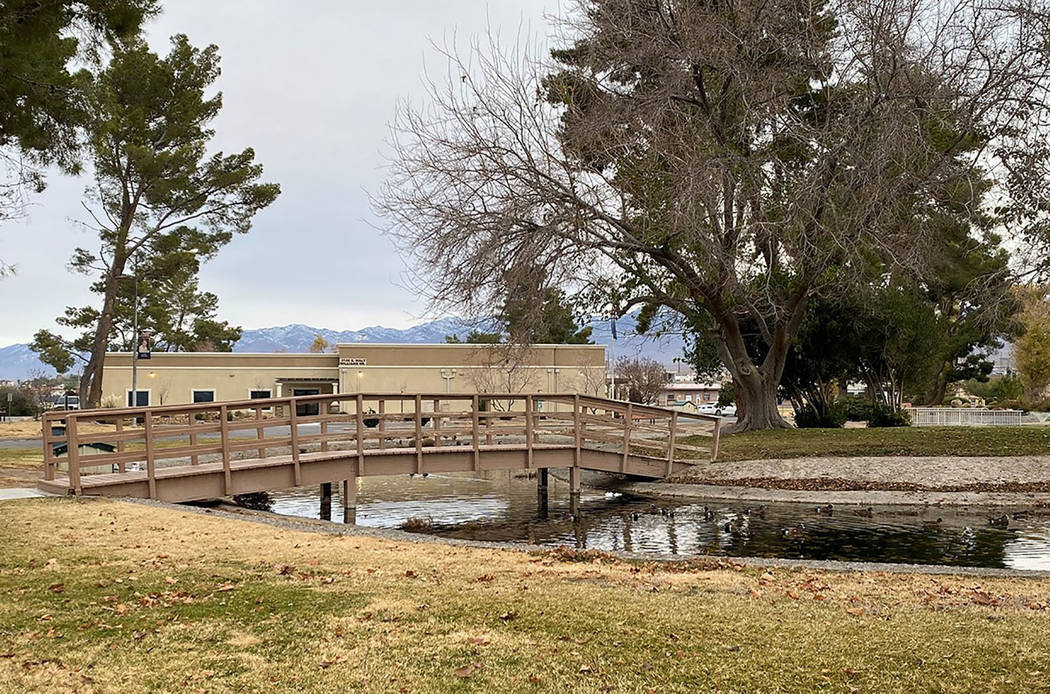 Town of Pahrump photo The cleanup and repair maintenance will be moving one pond so at some poi ...