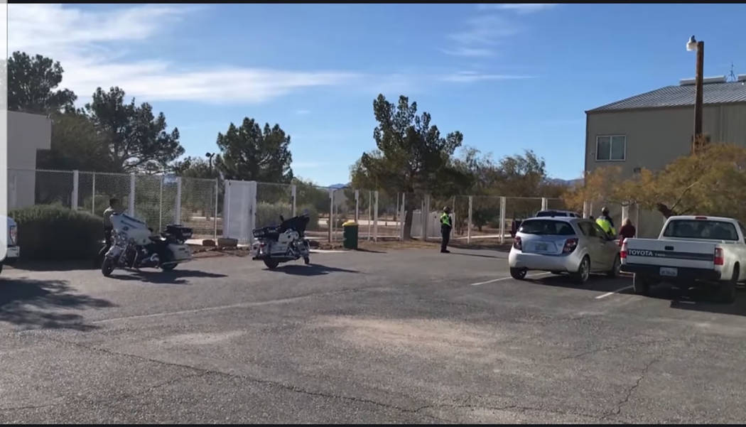 Nye County Sheriff's Office/screenshot As stated in a video news release, the Nye County Sherif ...