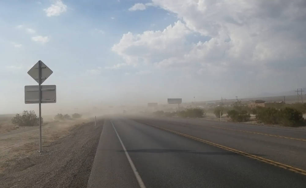 """David Jacobs/Pahrump Valley Times Concerns about the rising levels of """"PM 10"""" dust, or particul ..."""