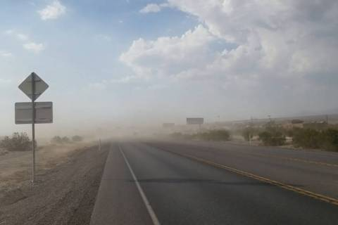 "David Jacobs/Pahrump Valley Times Concerns about the rising levels of ""PM 10"" dust, or particul ..."