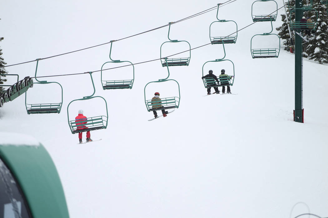 Erik Verduzco/Las Vegas Review-Journal Two of Lee Canyon's three chairlifts are expected to be ...