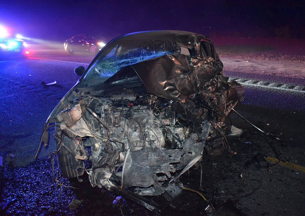 Special to the Pahrump Valley Times Two people were killed following a head-on crash along High ...