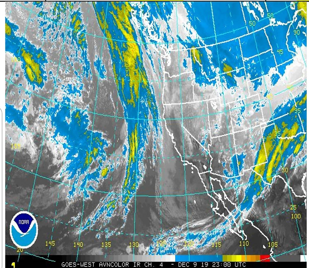 National Weather Service A look at how the weather was shaping up earlier this week after a sto ...
