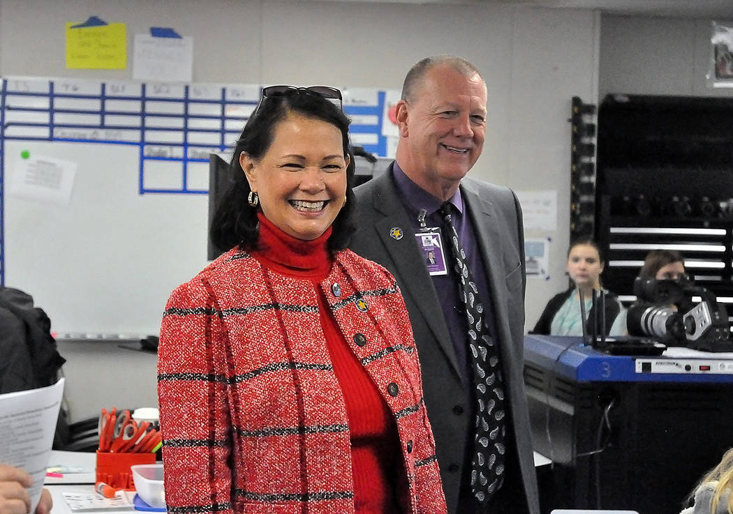 Horace Langford Jr./Pahrump Valley Times Nevada State Superintendent of Public Education Jhon ...